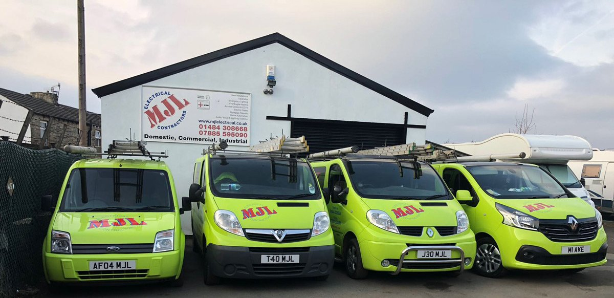 MJL Electrical Fleet of Vans